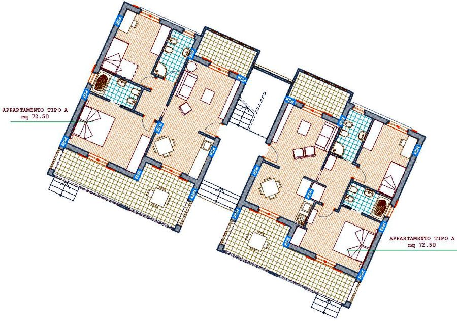 Vendonsi nuovi appartamenti vicino a tropea in calabria for Planimetrie popolari