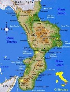 Cartina Calabria