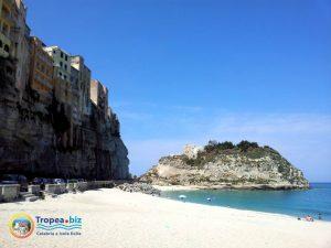Una delle spiagge bianche di Tropea