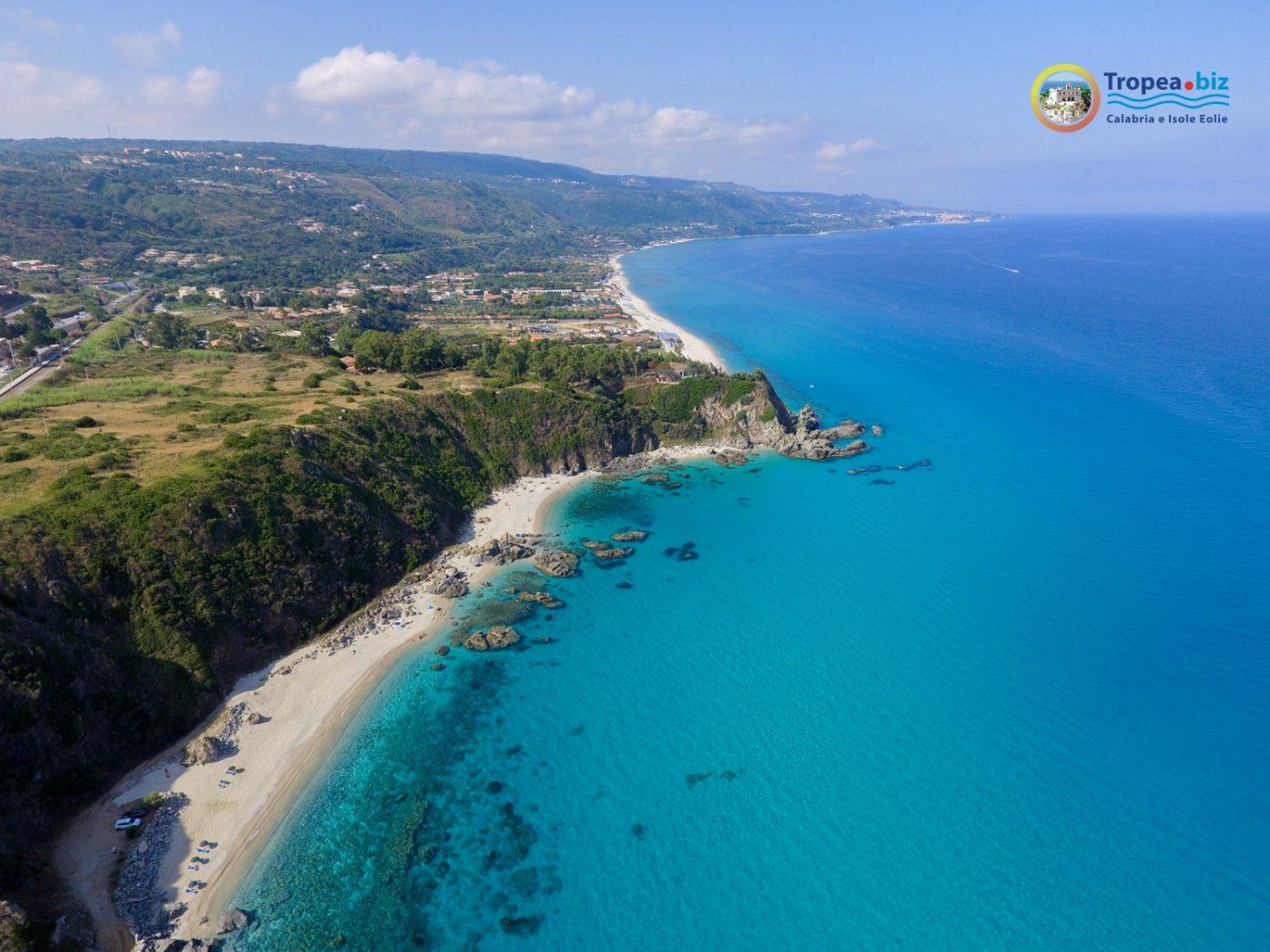 le spiagge di Zambrone vicino a Tropea in Calabria