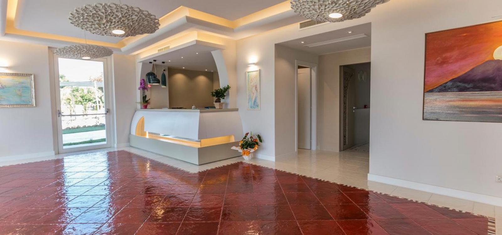 Hall hotel suite l'Oasi di Riaci
